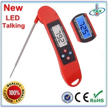 US Amazon Hot Voice Responder Instant Read Foldable Talking Grill Thermometer with LED Backlight