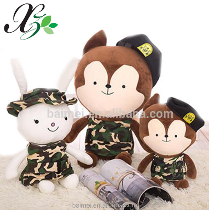 Cheap Wholesale Custom Plush Doll Korean Descendants Of The Sun Soft Doll Stuffed Toy Rabbit And Wolf
