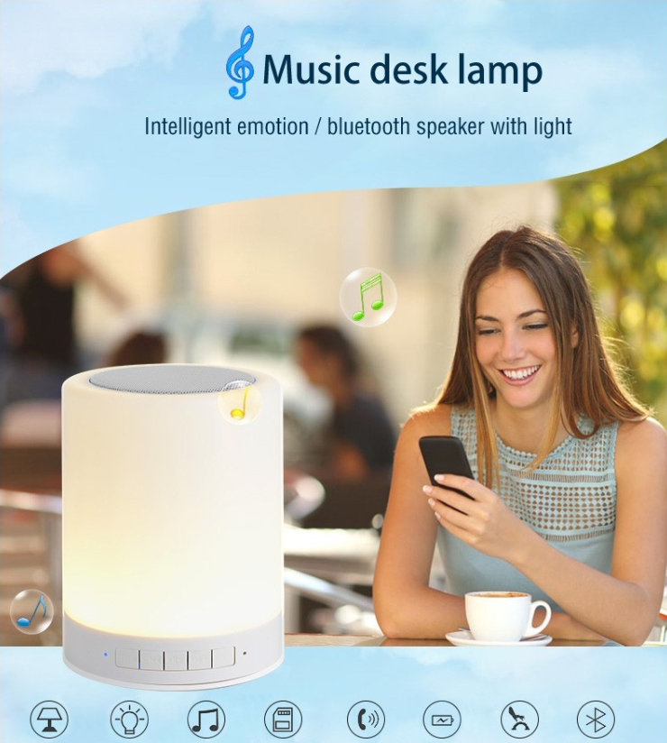 Unique quality product factory cheap price led lamp bluetooth speaker,FT-X15 Pembesar suara bluetooth/portable bluetooth speaker