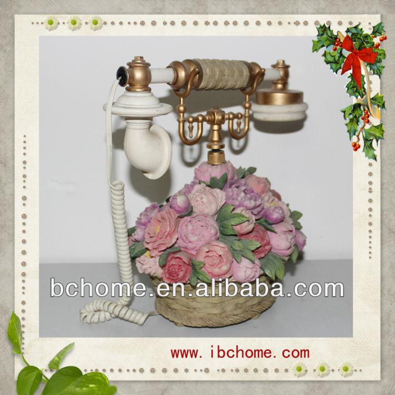 2013 Rose basket style resin telephone