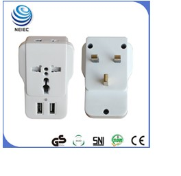 Ground 0.3 stainless steel power board British extension socket