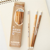 guangzhou stationery market creative vintage wood grain free pen sample erasable black ink 0.5mm gel pen with eraser