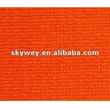 100% polypropylene orange rib carpet sold well