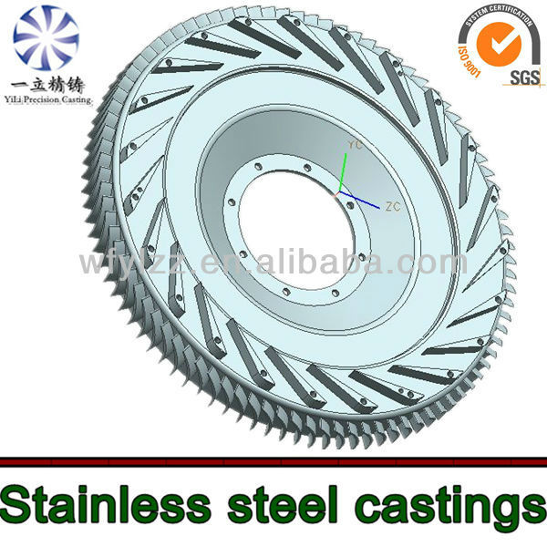 Stainless steel investment & vacuum casting diffuser used for turbine parts turbine jet engine