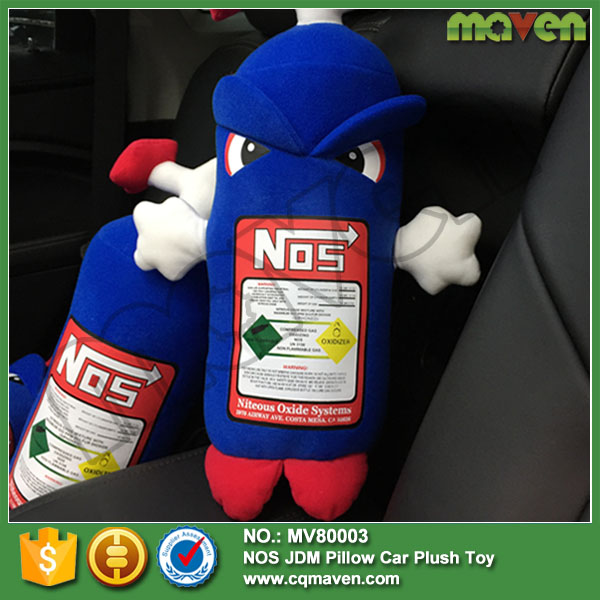 New Racing Nitrous Oxide Bottle Tank NOS Pillow JDM Plush Toy MV80003