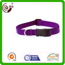 Pet Dog Collar Classic Solid Basic Polyester Nylon Custom logo plain nylon logo printed name brand Dog Collar and Leash