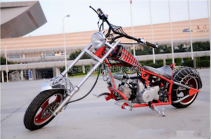 Fashion Spider men Motorcycle High Quality Harley Two Wheel 110CC Gasoline Motorbike