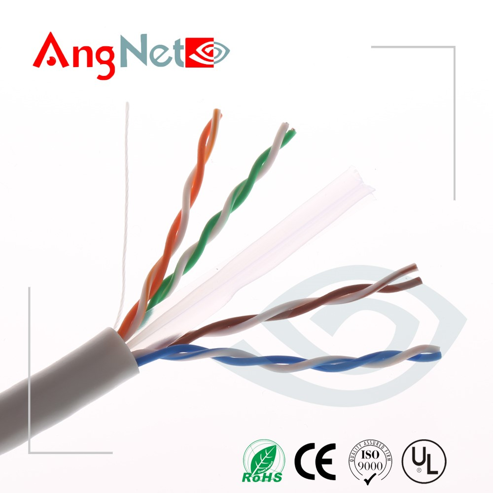 Plenum 23awg 0.57mm cat6 structured cable Made In China