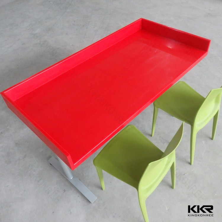 eco-friendly solid surface white kids table and chairs