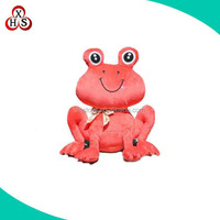 Funny OEM plush mini red frog & green frog toys China factory