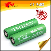wholesale IMREN 18650 3500mAh Rechargeabel battery 30A 3.7V Li-ion Battery cell for e-cigarette and mod