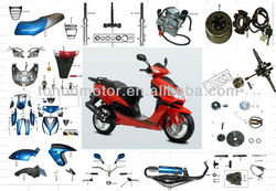 Italika motorcycle spare parts for DS150 OEM Quality