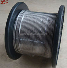 7x7 lifting flexible stainless steel wire rope