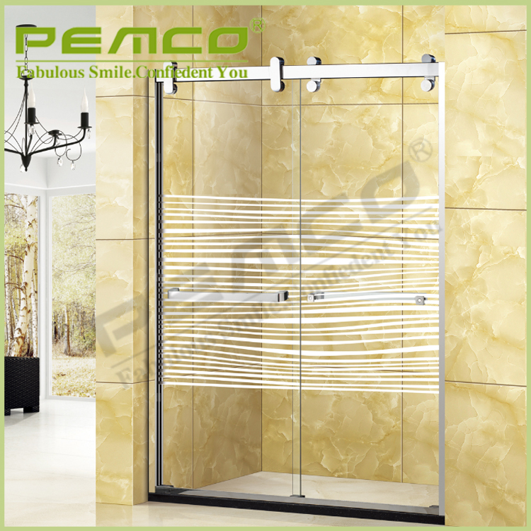 wholesale price Hotel easy assemble frameless Tempered Glass rollaway shower screen