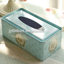 Recyclable Feature customized factory tin can/tin case/metal promotional tissue paper tin box