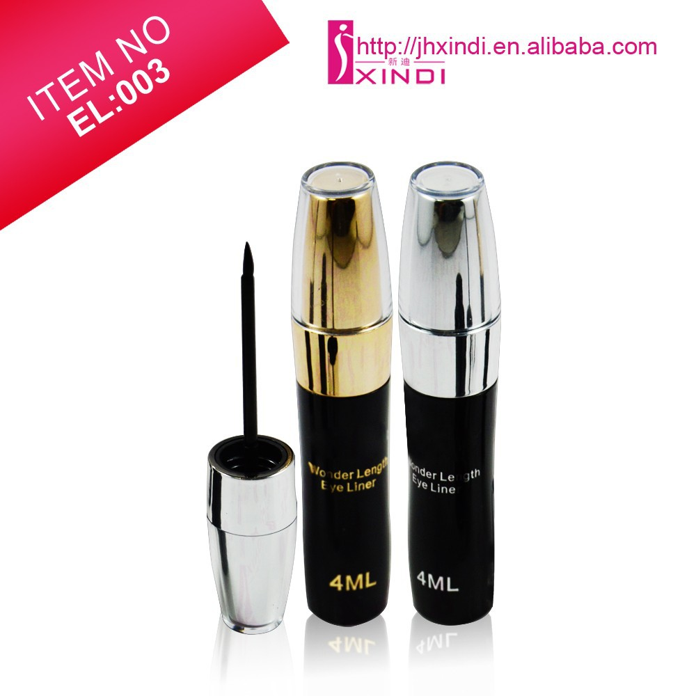 Eyeliner waterproof long wear eyeliner with brush fast dry anti hydration liquid form eyeliner