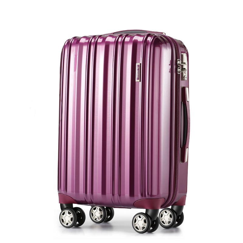 Carry On 3 Piece Trolley Set Pilot Rolling PC Hard Shell Cabin Luggage For Women