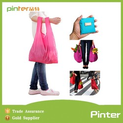 Pinter bag factory Promotional great sale cheap polyester foldable shopping bag