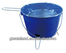 Bucket Shape Charcoal BBQ Grill, Charcoal Bucket BBQ Stove