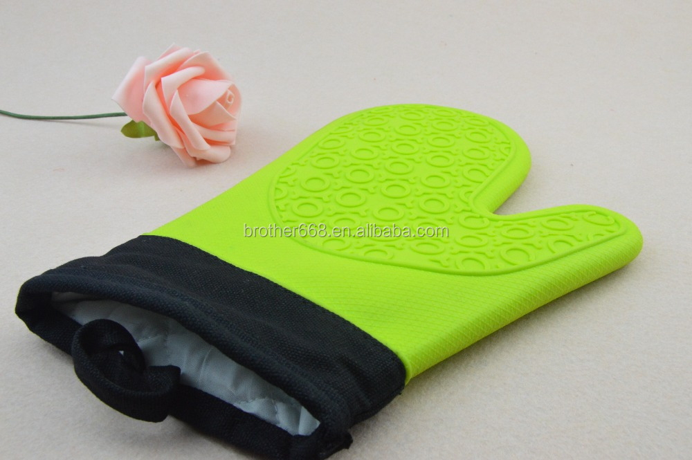 Wholesale high quality Kitchen Silicone Cooking Gloves Heat Resistant Oven Mitts Gloves