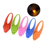 Waterproof Safety Flashing Luminous LED Pets Silicone Collar Clip on Pendant for Dogs Cats Night Walking
