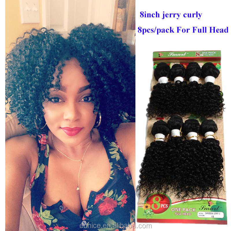 8pcs/lot unprocessed afro kinky curly hair brazilian hair weave short 8inch ombre Burgundy weave jerry curly hair bundles
