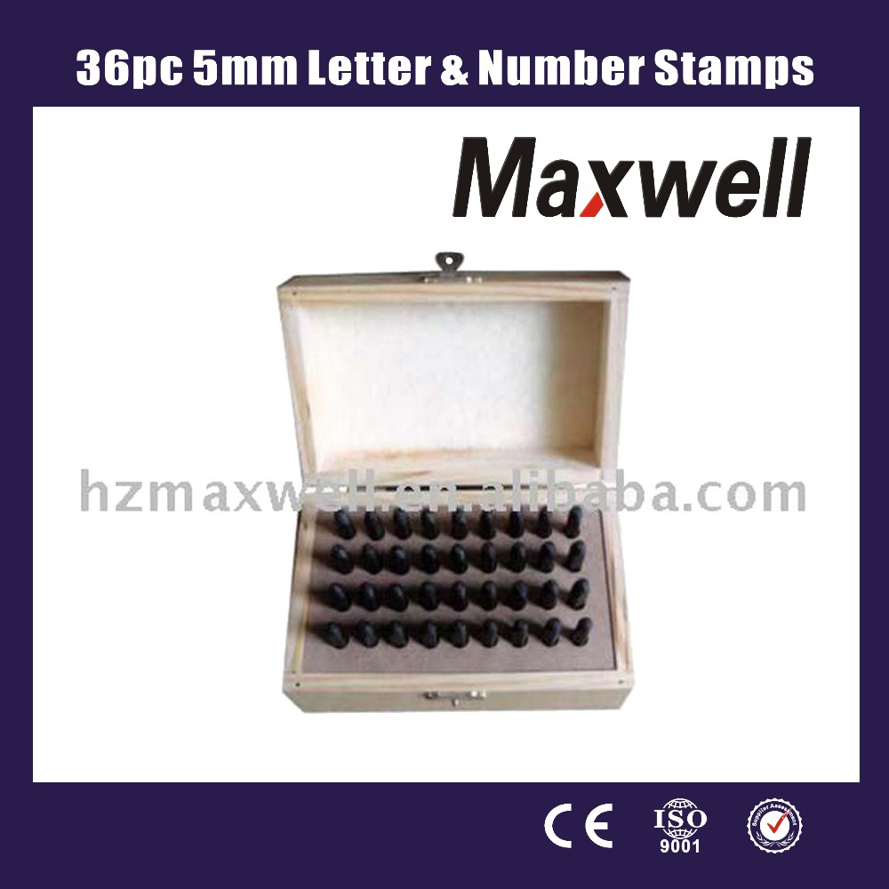 36pc 5mm Letter & Number Stamps