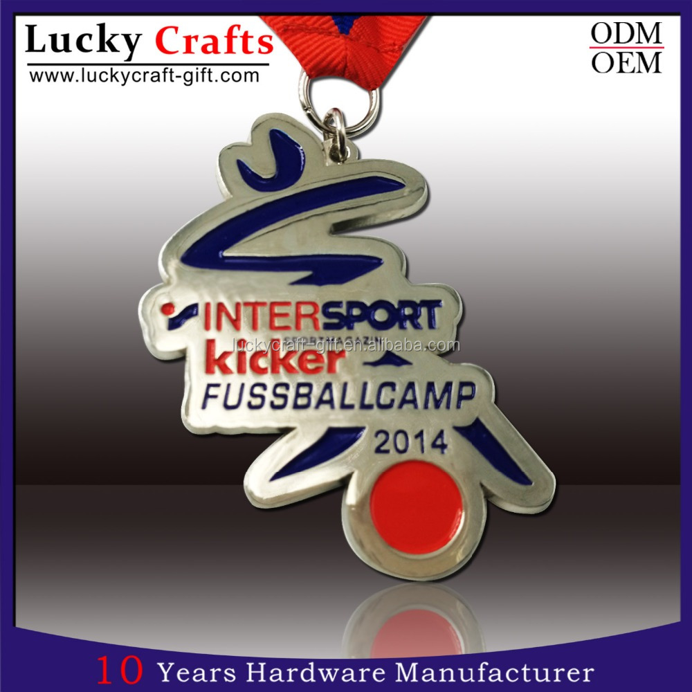 Personalised Metal Sports Medal Medallions With Letter
