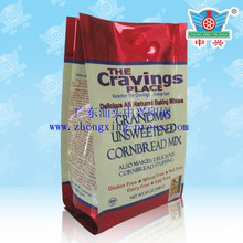 Hot Selling laminated side gusset corn flour bags with custom printing
