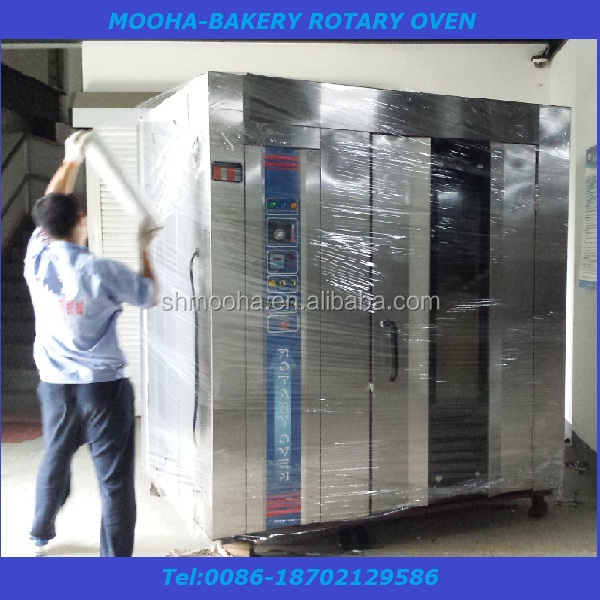 China bread machine factory , big bread machine rotary oven (ISO9001,CE,bakery equipments)