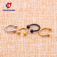 High quality cheap price eyebrow jewelry 316L stainless steel horseshoe eyebrow piercing ring for men