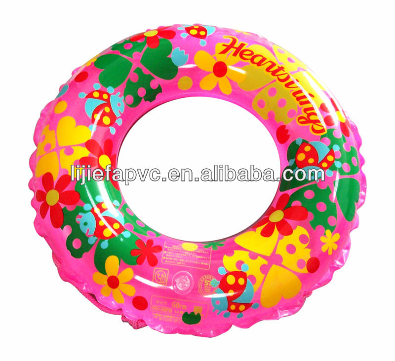 water sport inflatable swim ring for adults and children in green color
