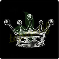 King Crown rhinestone iron on transfer for crystal garment accessories