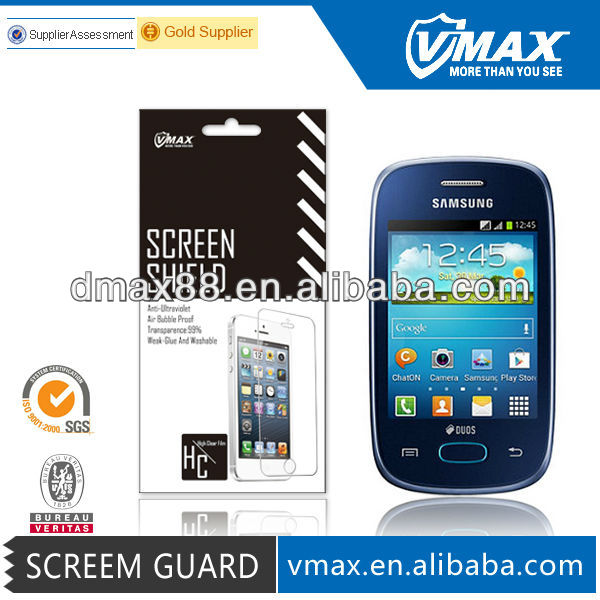 No Bubble screen protector for Samsung galaxy pocket neo s53 oem/odm (High Clear)