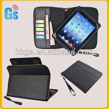 "handbags wholesale china Pu credit card leather case pouch for Ipad Mini 3 universal 7""8""9""10"""