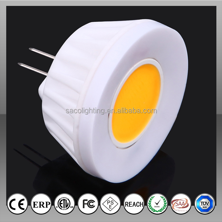 high quality 2w 220lm g4 led light fitting with ETL PSE SAA certificates