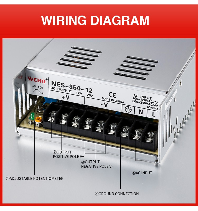 350w 12v single output switching mode power switch