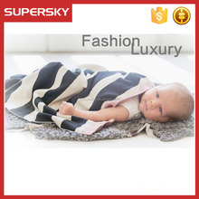 H-252 Custom branded baby luxury royal blanket air conditioning blanket baby knit blanket