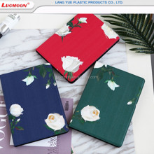 Retro style flower painted leather case for iPad air 2 for iPad pro 9.7 2018, protective tablet case for iPad 2/3/4/5/6