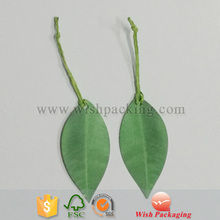 Green leaf shaped product hang tag creative new style price paper hangtag / label