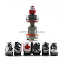 New products wholesale 810 Drip Tip Christmas Ceramic+SS vape drip tips alibaba co uk