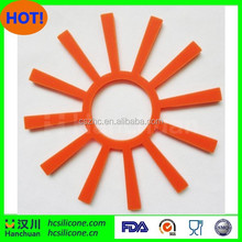 Food grade sunflower shaped silicone placemat for kitchen