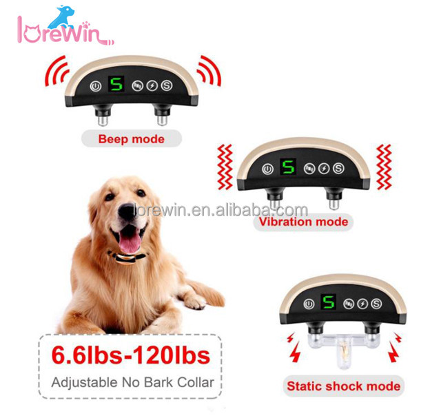 LoreWin LY-165A 2017 New Arrival Anti Bark Stop Best Pet Training Products Dog Bark Control Accessories Electric Shock Anti-Bark