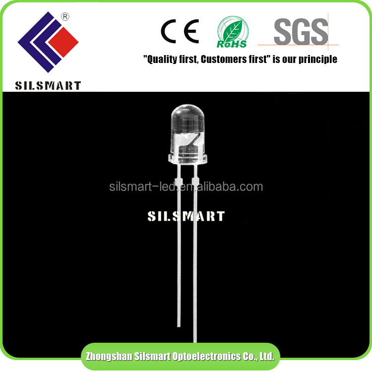 cheap price transparent Flat top led diode 5mm