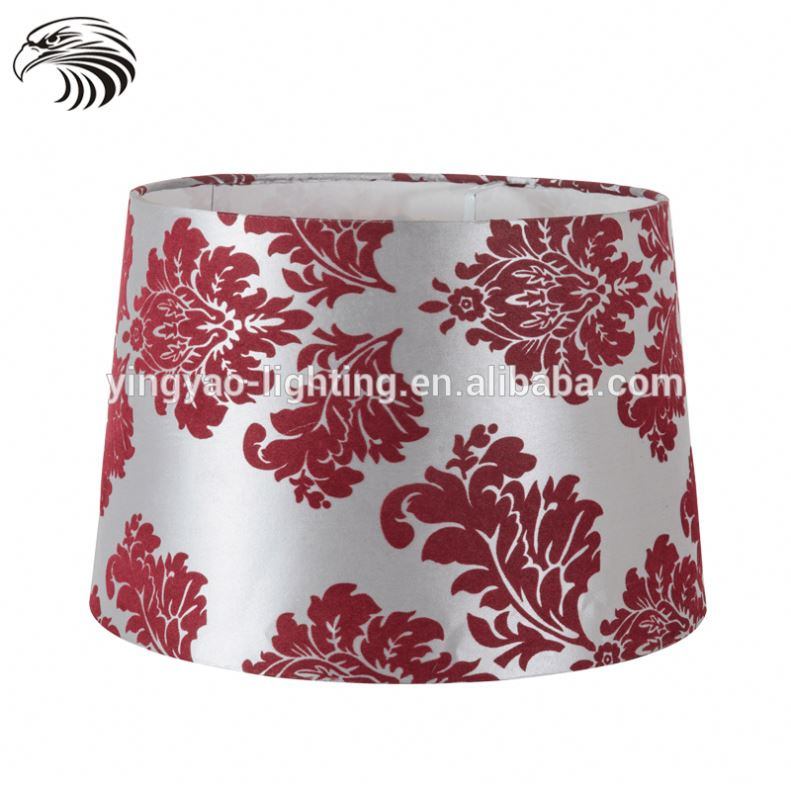 Good quality poly nightstand table lamp white color hanging fabric light shades