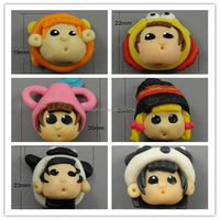 Clay Canes Mixed Little Girl Boy Patterns Charms Fimo Polymer Clay