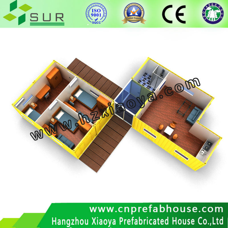 foldable south america fashionable vacation family type prefabricated container house/container home/container house