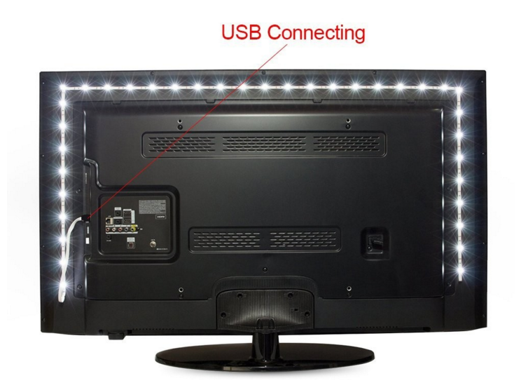 USB led tv backing light RGB cheap price for online retail store motorcycle led lighting strips