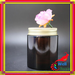 glass jar for face cream acrylic jar with Plastic aluminum cap for hand and foot whitening cream