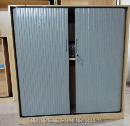 Grey Plastic Tambour Door Roller Shutter Door For Wooden